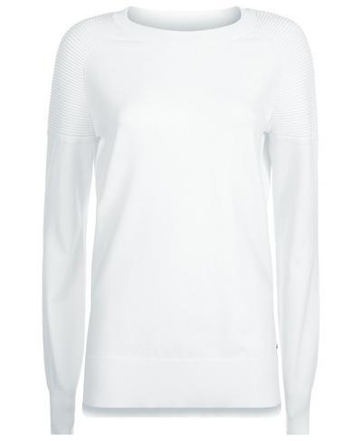 8 Track Sweater, White | Sweaty Betty