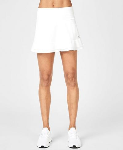 Crosscourt Tennis Skirt, White | Sweaty Betty