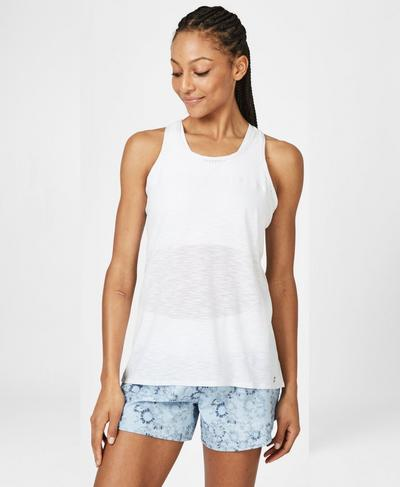 Breeze Running Tank, White | Sweaty Betty