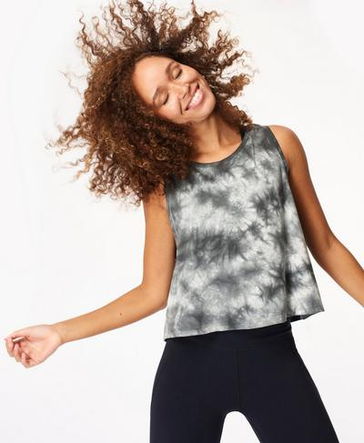 Swing Workout Tank, Black Tie Dye | Sweaty Betty