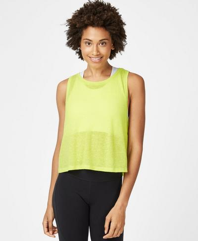 Crop Workout Tank, Lime Punch | Sweaty Betty