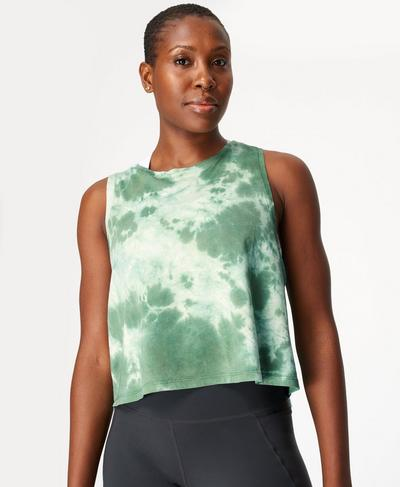 Swing Vest, Marina Green Tie Dye Print | Sweaty Betty