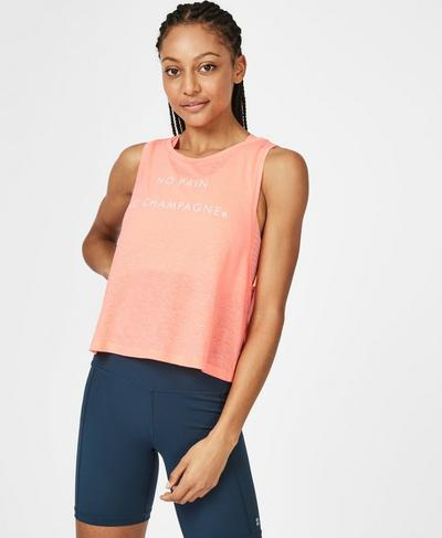 Crop Workout Tank, Passion Coral | Sweaty Betty