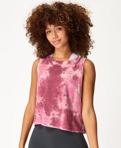 Swing Vest, Pink Tie Dye Print | Sweaty Betty