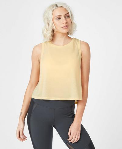 Crop Workout Tank, Yellow | Sweaty Betty