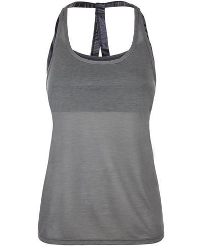 Double Impact Workout Tank, Charcoal | Sweaty Betty