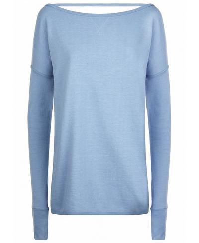Simhasana Sport Sweatshirt, Faded Denim | Sweaty Betty