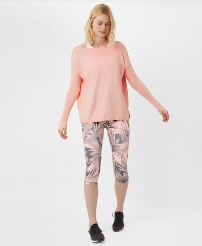 Simhasana Sport Sweatshirt, Liberated Pink | Sweaty Betty