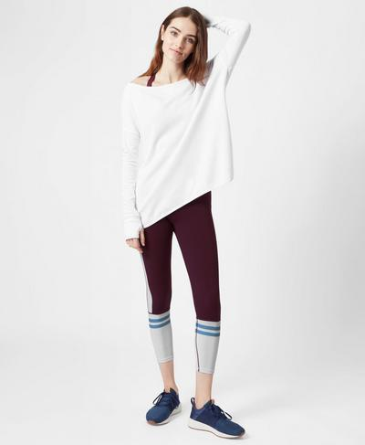 Simhasana Sport Sweatshirt, White | Sweaty Betty