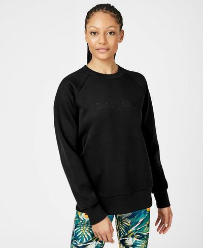 No Pain No Champagne Sweatshirt, Black A | Sweaty Betty