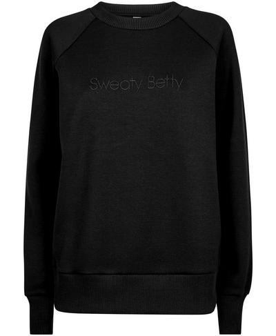 No Pain No Champagne Jumper, Black A | Sweaty Betty