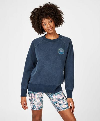Brixton Sweatshirt, Beetle Blue | Sweaty Betty