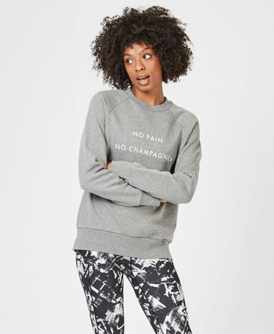 Crew Neck Sweatshirt, Charcoal | Sweaty Betty