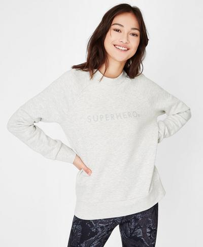 Crew Neck Fashion Sweat, Oatmeal Marl | Sweaty Betty