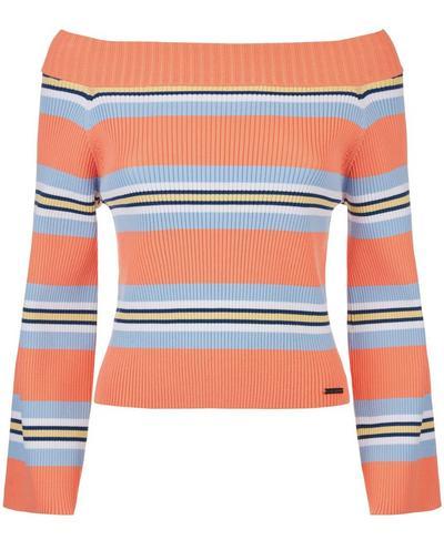 Balmy Knitted Top, Melon Stripe | Sweaty Betty