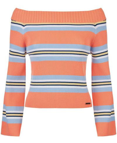 Balmy Knitted Top, Melon Stripe | Sweaty Betty