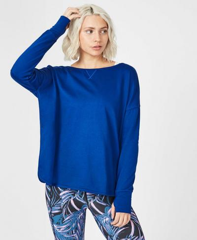 Simhasana Sport Sweatshirt, Blue Quartz | Sweaty Betty