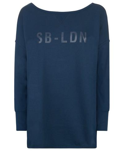Simhasana Sport Slogan Sweatshirt, Beetle Blue | Sweaty Betty