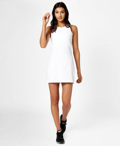 Tournament Tennis Dress, White | Sweaty Betty