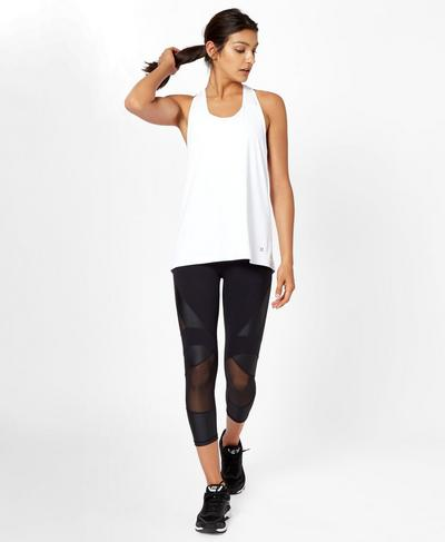 Compound Vest, White | Sweaty Betty