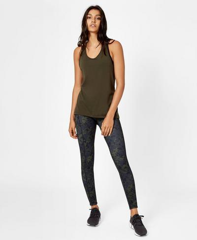 Compound Jersey Tank, Olive | Sweaty Betty