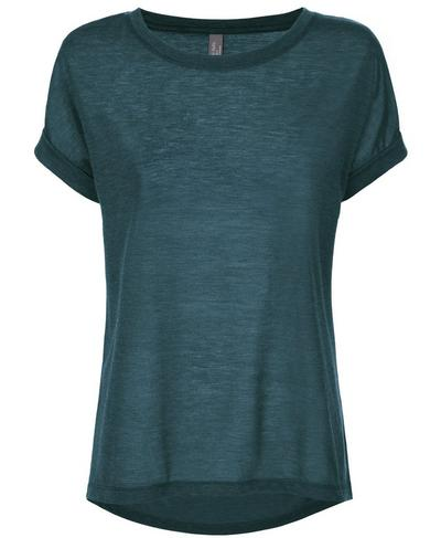 Ab Crunch Tee, Midnight Teal | Sweaty Betty