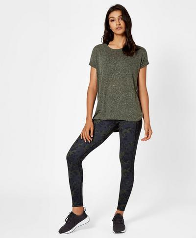 Ab Crunch T-Shirt, Olive | Sweaty Betty