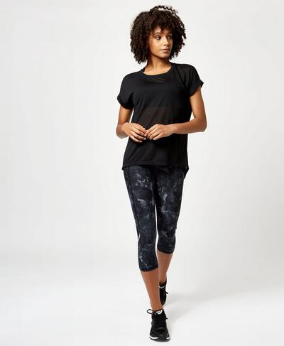 Ab Crunch Tee, Black | Sweaty Betty