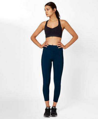 Zero Gravity 7/8 Run Leggings, Beetle Blue | Sweaty Betty