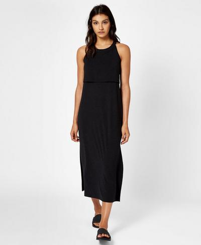 Holistic Dress, Black Marl | Sweaty Betty