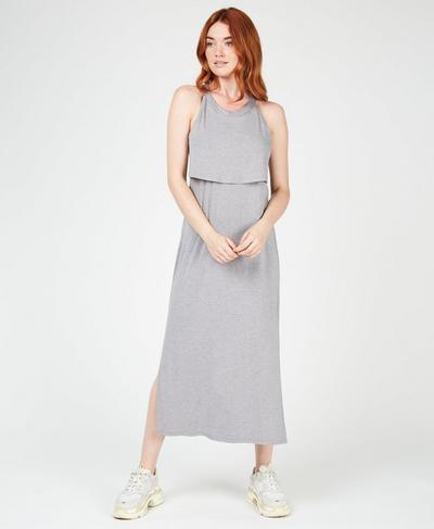 Holistic Dress, Light Grey Marl | Sweaty Betty