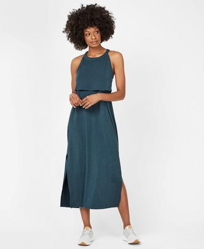 Holistic Dress, Midnight Teal | Sweaty Betty