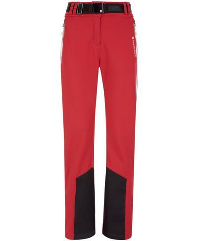 Moritz Softshell Slim Leg Snow Pants, Retro Red Colour Block | Sweaty Betty