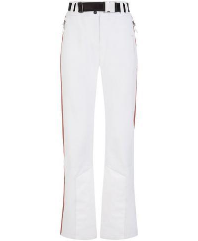 Moritz Softshell Slim Leg Snow Pants, White | Sweaty Betty
