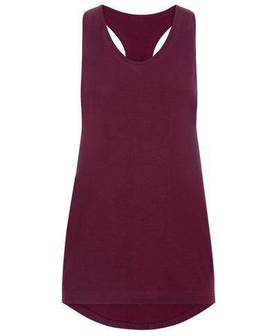 Extreme Racer Back Seamless Tank, Aubergine | Sweaty Betty