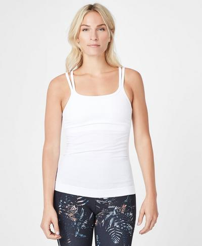 Namaska Yoga Tank, White | Sweaty Betty