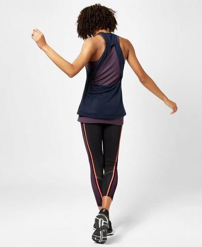 Seamless Double Time Tank, Aubergine | Sweaty Betty
