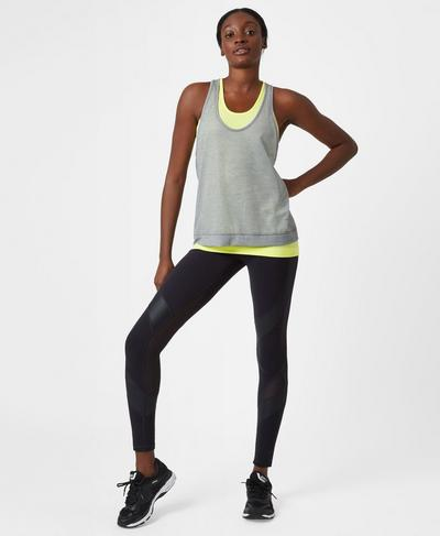 Seamless Double Time Vest, Citrus | Sweaty Betty