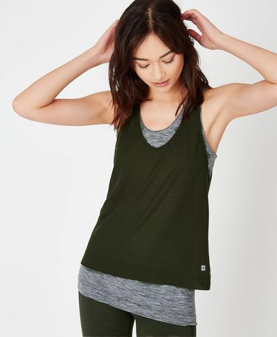 Seamless Double Time Tank, Dark Forest | Sweaty Betty