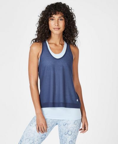 Seamless Double Time Workout Tank, Infinity Blue | Sweaty Betty