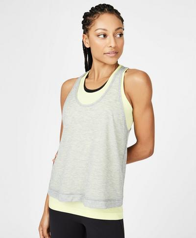 Seamless Double Time Tank, Wild Lime | Sweaty Betty
