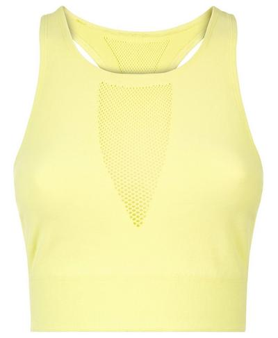 Fishnet Mesh Crop Top, Citrus | Sweaty Betty
