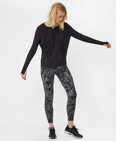 Hinoki Long Sleeve Top, Black | Sweaty Betty