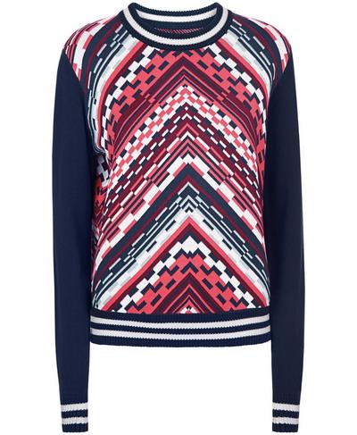 Brixton Chevron Knitted Sweater, Multi Brixton Chevron Jacquard | Sweaty Betty