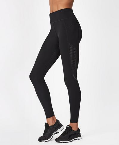 Zero Gravity High Waisted Running Leggings, Black | Sweaty Betty