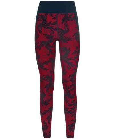 Zero Gravity Run Leggings, Aubergine Pub Life Print | Sweaty Betty