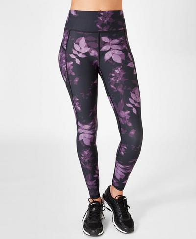 Zero Gravity High Waisted Running Leggings, Leaf Print | Sweaty Betty