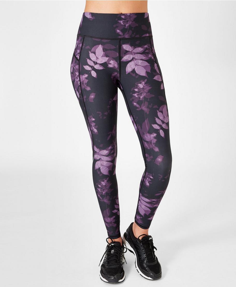 f78fd48b1675d9 Zero Gravity Run Leggings - Leaf Print   Women's Leggings   Sweaty Betty