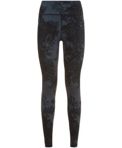 Zero Gravity Side Pocket Run Leggings, Tonal Forest Print | Sweaty Betty