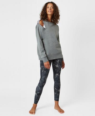 Boyfriend Sweatshirt, Charcoal Marl | Sweaty Betty